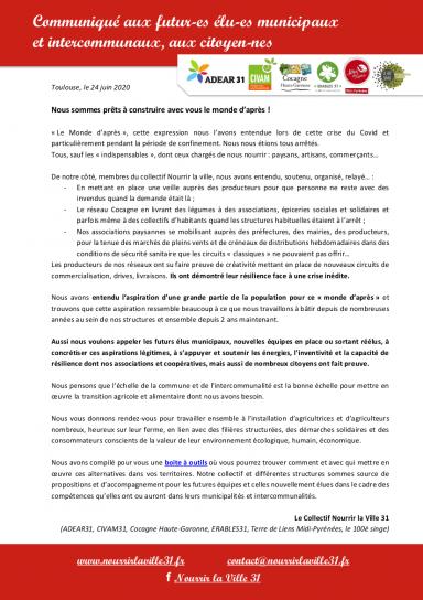 image Communiqu_aux_futurs_lus_municipaux_et_intercommunaux_Nourrir_la_Ville_31.png (0.2MB) Lien vers: https://www.nourrirlaville31.fr/wp-content/uploads/2020/06/Communiqu%C3%A9-aux-futurs-%C3%A9lus-municipaux-et-intercommunaux_Nourrir-la-Ville-31.pdf