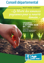 Invitation Colloque Semences CD31 Lien vers: https://www.haute-garonne.fr/sites/default/files/43203_plaquette_liberte_semences_paysannes2_web.pdf